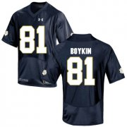 Wholesale Cheap Notre Dame Fighting Irish 81 Miles Boykin Navy College Football Jersey