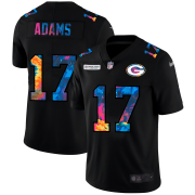 Cheap Green Bay Packers #17 Davante Adams Men's Nike Multi-Color Black 2020 NFL Crucial Catch Vapor Untouchable Limited Jersey
