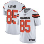 Wholesale Cheap Nike Browns #85 David Njoku White Men's Stitched NFL Vapor Untouchable Limited Jersey