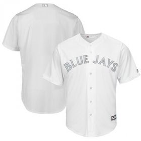 Wholesale Cheap Toronto Blue Jays Blank Majestic 2019 Players\' Weekend Cool Base Team Jersey White