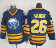 Wholesale Sabres #26 Thomas Vanek Navy Blue CCM Throwback Stitched NHL Jersey