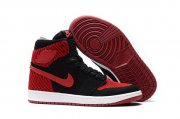 Wholesale Cheap Air Jordan 1 High Flyknit Banned Black/Varsity Red-White