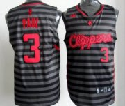 Wholesale Cheap Los Angeles Clippers #3 Chris Paul Gray With Black Pinstripe Jersey