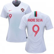 Wholesale Cheap Women's Portugal #9 Andre Silva Away Soccer Country Jersey