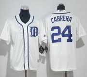 Wholesale Cheap Tigers #24 Miguel Cabrera White Cool Base Stitched Youth MLB Jersey