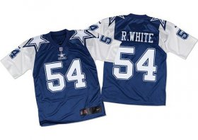 Wholesale Nike Cowboys #54 Randy White Navy Blue/White Throwback Men\'s Stitched NFL Elite Jersey