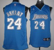 Wholesale Cheap Los Angeles Lakers #24 Kobe Bryant Light Blue With White Swingman Jersey