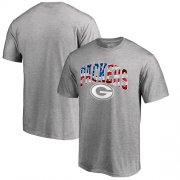 Wholesale Cheap Men's Green Bay Packers Pro Line by Fanatics Branded Heathered Gray Banner Wave T-Shirt