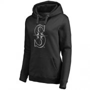Wholesale Cheap Women's Seattle Mariners Platinum Collection Pullover Hoodie Black