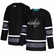 Wholesale Cheap Adidas Capitals Blank Black 2019 All-Star Game Parley Authentic Stitched NHL Jersey