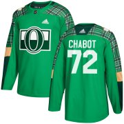 Wholesale Cheap Adidas Senators #72 Thomas Chabot adidas Green St. Patrick's Day Authentic Practice Stitched NHL Jersey