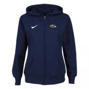 Wholesale Cheap Nike Baltimore Ravens Ladies Tailgater Full Zip Hoodie Blue