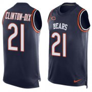 Wholesale Cheap Nike Bears #21 Ha Ha Clinton-Dix Navy Blue Team Color Men's Stitched NFL Limited Tank Top Jersey