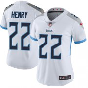 Wholesale Cheap Nike Titans #22 Derrick Henry White Women's Stitched NFL Vapor Untouchable Limited Jersey