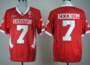 Wholesale Cheap Houston Cougars #7 Case Keenum Red C-USA Patch Jersey