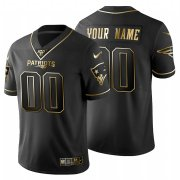 Wholesale Cheap New England Patriots Custom Men's Nike Black Golden Limited NFL 100 Jersey