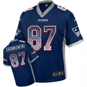 Wholesale Nike Patriots #87 Rob Gronkowski Navy Blue Team Color Youth Stitched NFL Elite Drift Fashion Jersey