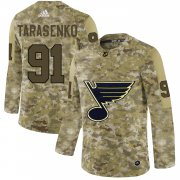 Wholesale Cheap Adidas Blues #91 Vladimir Tarasenko Camo Authentic Stitched NHL Jersey