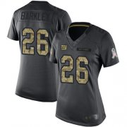 Wholesale Cheap Nike Giants #26 Saquon Barkley Black Women's Stitched NFL Limited 2016 Salute to Service Jersey
