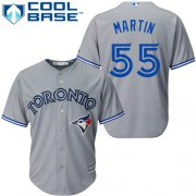 Wholesale Cheap Blue Jays #55 Russell Martin Grey Cool Base Stitched Youth MLB Jersey