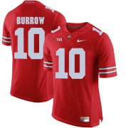 Wholesale Cheap Ohio State Buckeyes 10 Joe Burrow Red College Football Jersey