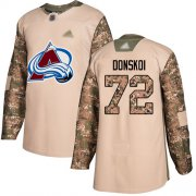 Wholesale Cheap Adidas Avalanche #72 Joonas Donskoi Camo Authentic 2017 Veterans Day Stitched Youth NHL Jersey