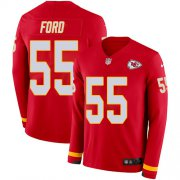 Wholesale Cheap Nike Chiefs #55 Dee Ford Red Team Color Youth Stitched NFL Limited Therma Long Sleeve Jersey