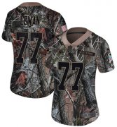 Wholesale Cheap Nike Titans #77 Taylor Lewan Camo Women's Stitched NFL Limited Rush Realtree Jersey