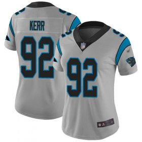 Wholesale Cheap Nike Panthers #92 Zach Kerr Silver Women\'s Stitched NFL Limited Inverted Legend Jersey