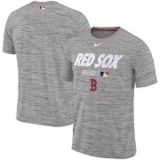 Wholesale Cheap Boston Red Sox Nike Authentic Collection Velocity Team Issue Performance T-Shirt Gray