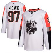 Wholesale Cheap Adidas Oilers #97 Connor McDavid White 2018 All-Star Pacific Division Authentic Stitched Youth NHL Jersey
