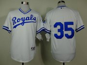 Wholesale Cheap Royals #35 Eric Hosmer White 1974 Turn Back The Clock Stitched MLB Jersey