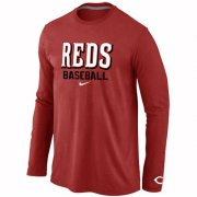 Wholesale Cheap Cincinnati Reds Long Sleeve MLB T-Shirt Red