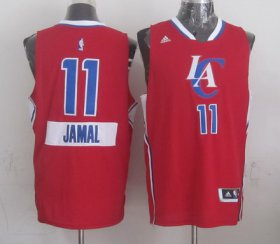 Wholesale Cheap Los Angeles Clippers #11 Jamal Crawford Revolution 30 Swingman 2014 Christmas Day Red Jersey