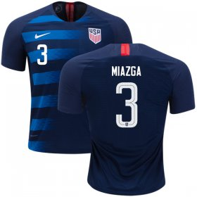 Wholesale Cheap USA #3 Miazga Away Soccer Country Jersey