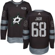 Wholesale Cheap Adidas Stars #68 Jaromir Jagr Black 1917-2017 100th Anniversary Stitched NHL Jersey