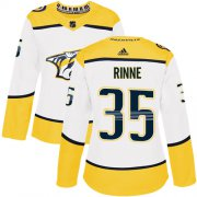 Wholesale Cheap Adidas Predators #35 Pekka Rinne White Road Authentic Women's Stitched NHL Jersey