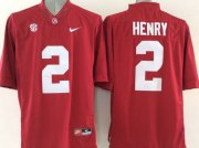 Wholesale Cheap Men's Alabama Crimson Tide #2 Derrick Henry Red 2015 NCAA Football Nike Limited Jersey