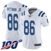 Wholesale Cheap Nike Colts #86 Michael Pittman Jr. White Women's Stitched NFL 100th Season Vapor Untouchable Limited Jersey