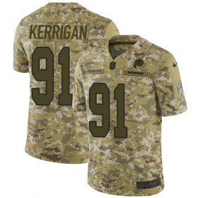 Wholesale Cheap Nike Redskins #91 Ryan Kerrigan Camo Men\'s Stitched NFL Limited 2018 Salute To Service Jersey