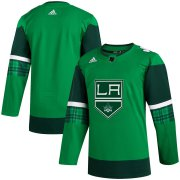 Wholesale Cheap Los Angeles Kings Blank Men's Adidas 2020 St. Patrick's Day Stitched NHL Jersey Green.jpg