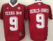 Wholesale Cheap Men's Texas A&M Aggies #9 Ricky Seals-Jones Red 2016 College Football Nike Jersey