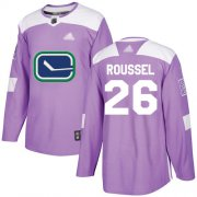 Wholesale Adidas Canucks #4 Michael Del Zotto Purple Authentic Fights Cancer Stitched NHL Jersey