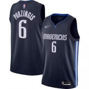 Wholesale Cheap Mavericks #6 Kristaps Porzingis Navy Basketball Swingman Statement Edition 2019-2020 Jersey