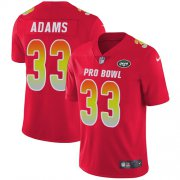 Wholesale Cheap Nike Jets #33 Jamal Adams Red Men's Stitched NFL Limited AFC 2019 Pro Bowl Jersey