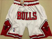 Wholesale Cheap Bulls White 1997-98 Limited Shorts