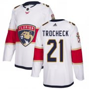 Wholesale Cheap Adidas Panthers #21 Vincent Trocheck White Road Authentic Stitched Youth NHL Jersey