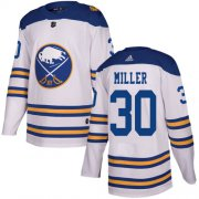Wholesale Cheap Adidas Sabres #30 Ryan Miller White Authentic 2018 Winter Classic Stitched NHL Jersey