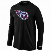 Wholesale Cheap Nike Tennessee Titans Logo Long Sleeve T-Shirt Black