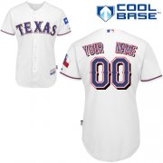 Wholesale Cheap Rangers Customized Authentic White Cool Base MLB Jersey (S-3XL)